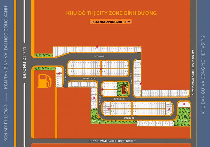 Sơ đồ phân lô dự án City Zone