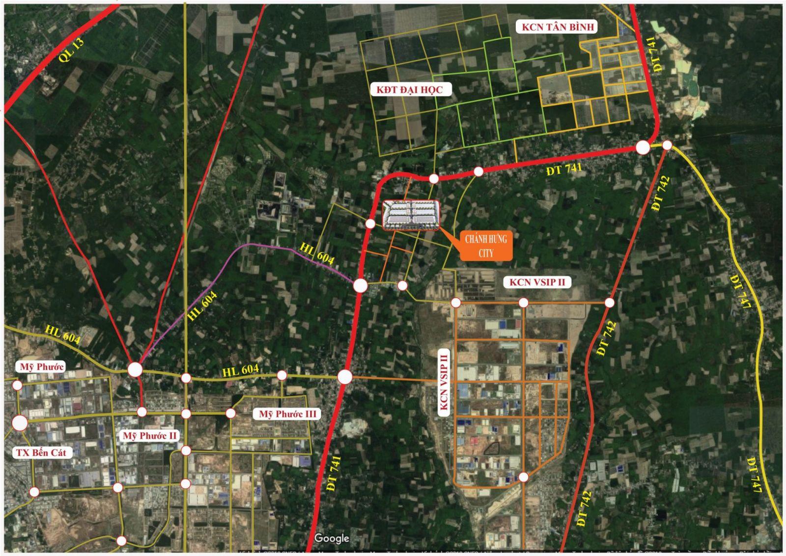 Vị trí khu đô thị City Zone